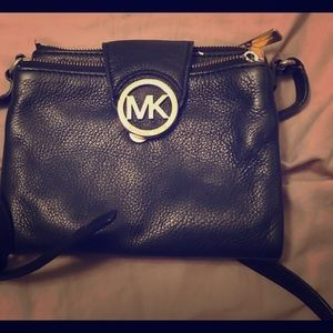 Michael Kors - black crossbody purse.